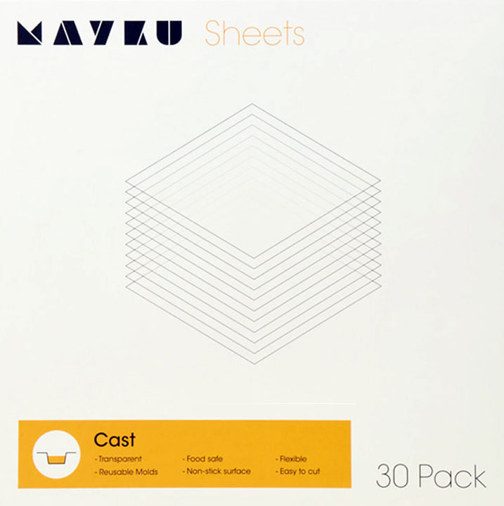 30 Mayku Transparent 0.5mm Extruded PETG Sheets