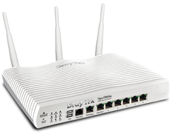 The best wireless router for small business. The draytek 2860ac.
