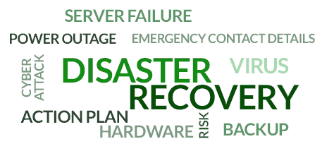 Disaster recovery planning for businesses.