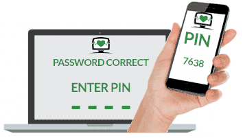Dual factor authentication increases your businesses IT security.