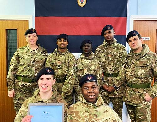 Croydon Army Cadets Receive Laptop Gift