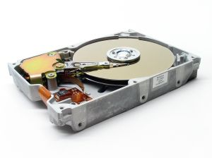 Data recovery from a hard disk.
