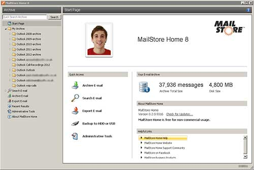 MailStore is a free E-Mail archiving solution