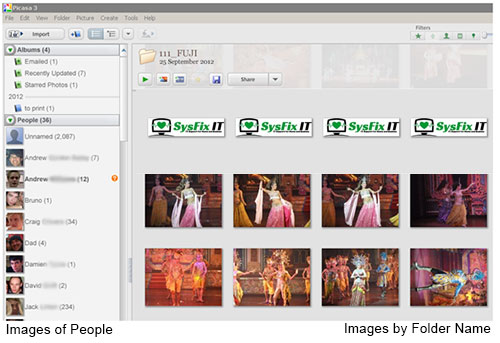 Picasa is free software used to organise your photo collection.